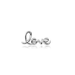 HOURRAE 書寫LOVE字 優雅銀色系列 小飾品
