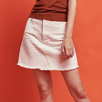CACO-斜紋跳色短裙-女【RSH011】
