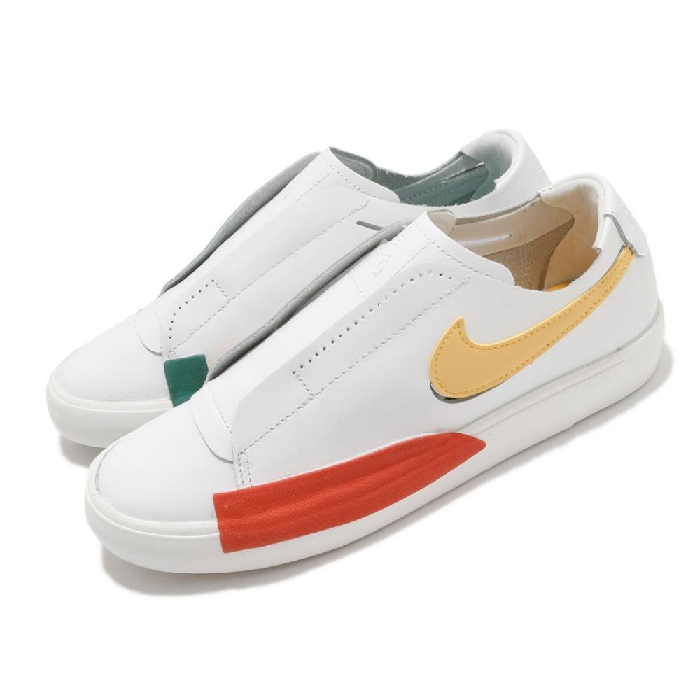 Nike 休閒鞋 Blazer Slip 運動 女鞋 海外限定 基本款 簡約 輕便 套腳 鴛鴦 白 彩 CJ1651101