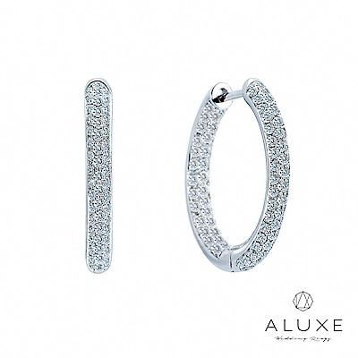 A-LUXE 亞立詩 18K金 大圈圈鑽石耳環-直徑2CM