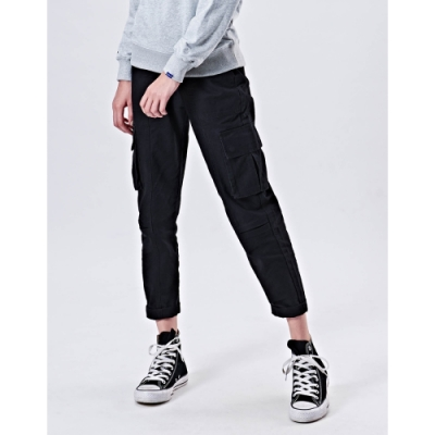 NAVY-貼袋錐形工作褲-情侶款(兩色)-女【VNA015】