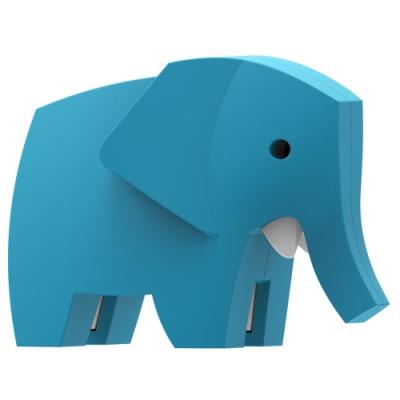 【HALFTOYS 哈福玩具】3D動物樂園:ELEPHANT 大象 STEAM教育玩具