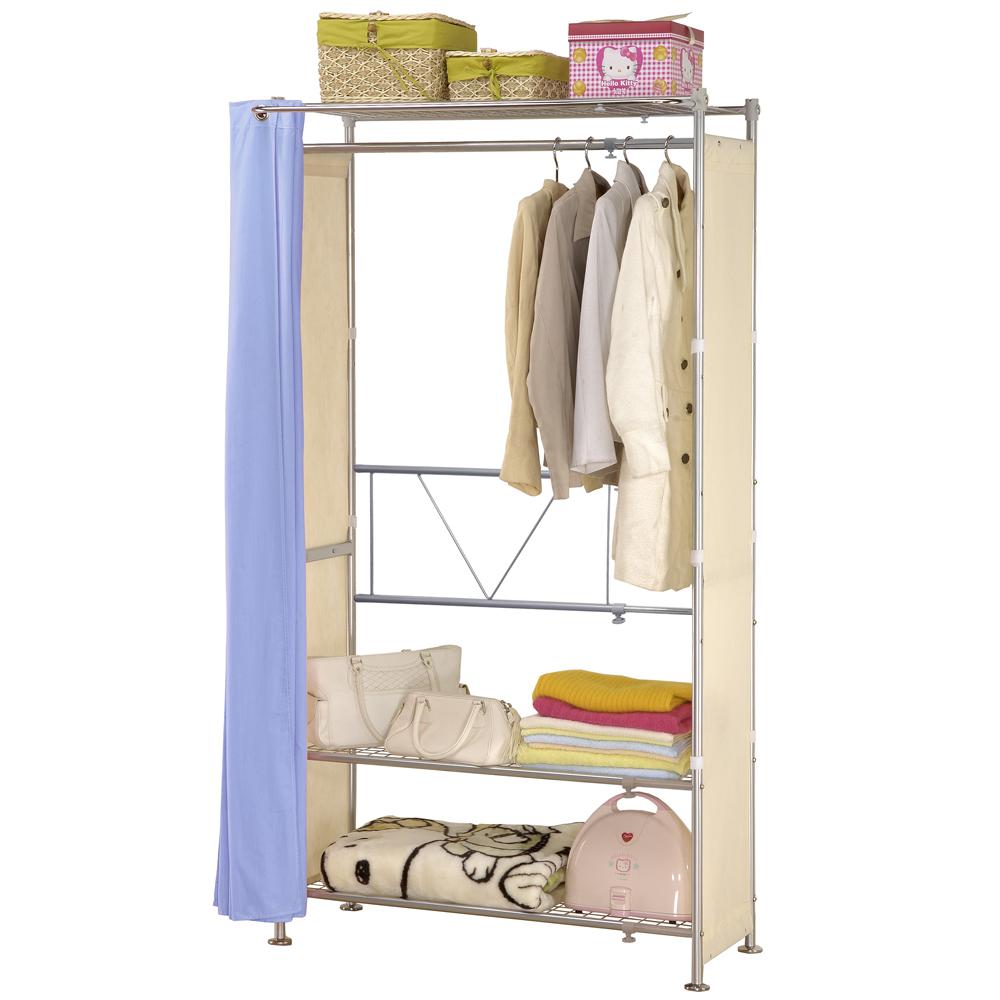 巴塞隆納─AG-03三層層板伸縮衣櫥V型設計強化結構
