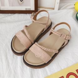 KEITH-WILL時尚鞋館 破盤價簡約俐落休閒涼鞋-杏