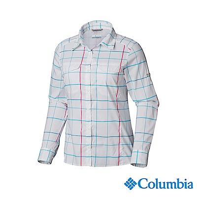Columbia 哥倫比亞 女款-UPF40快排長袖襯衫-白色 UAK14980WT