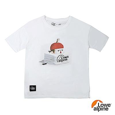 Lowe alpi Silvermar女款Abei聯名插畫T恤-02 白色