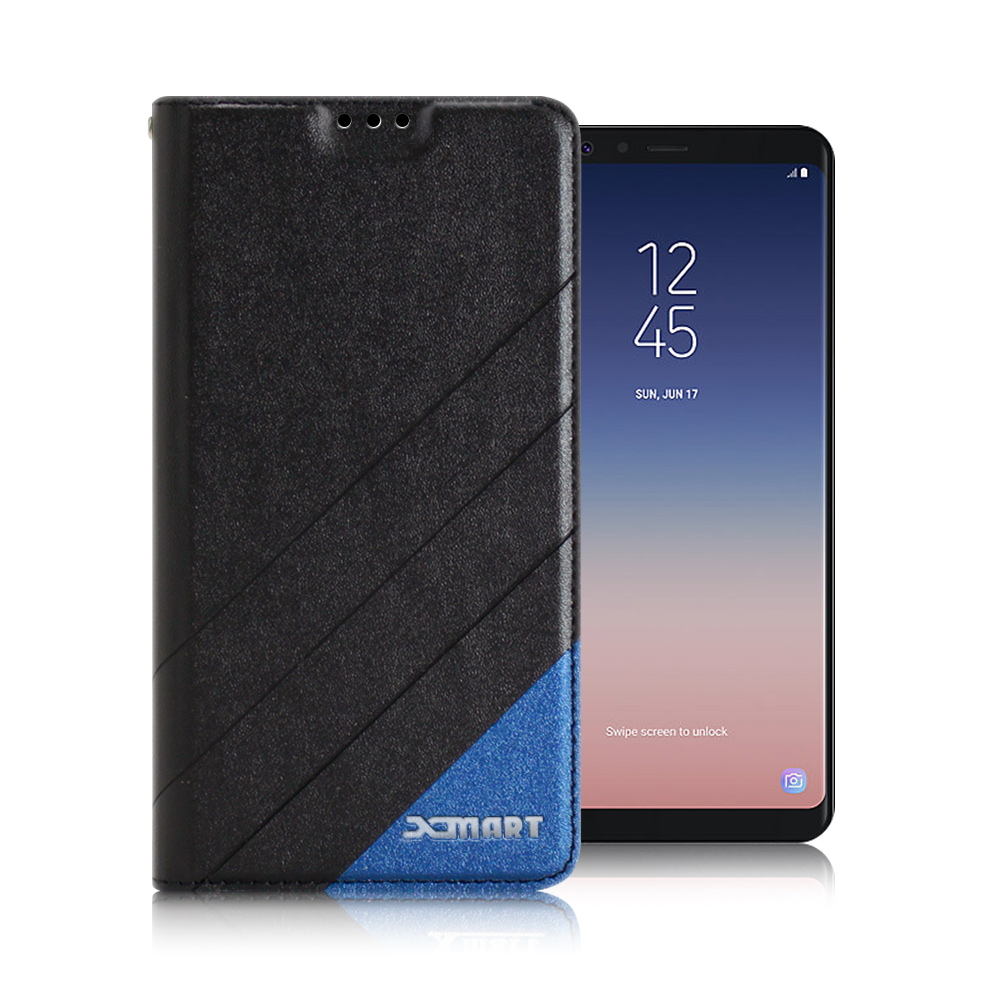 Xmart  for SAMSUNG Galaxy A8 Star 完美拼色磁扣皮套