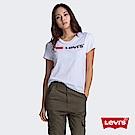 Levis 女款 短袖T恤 翻玩夏日Logo T 植絨Logo