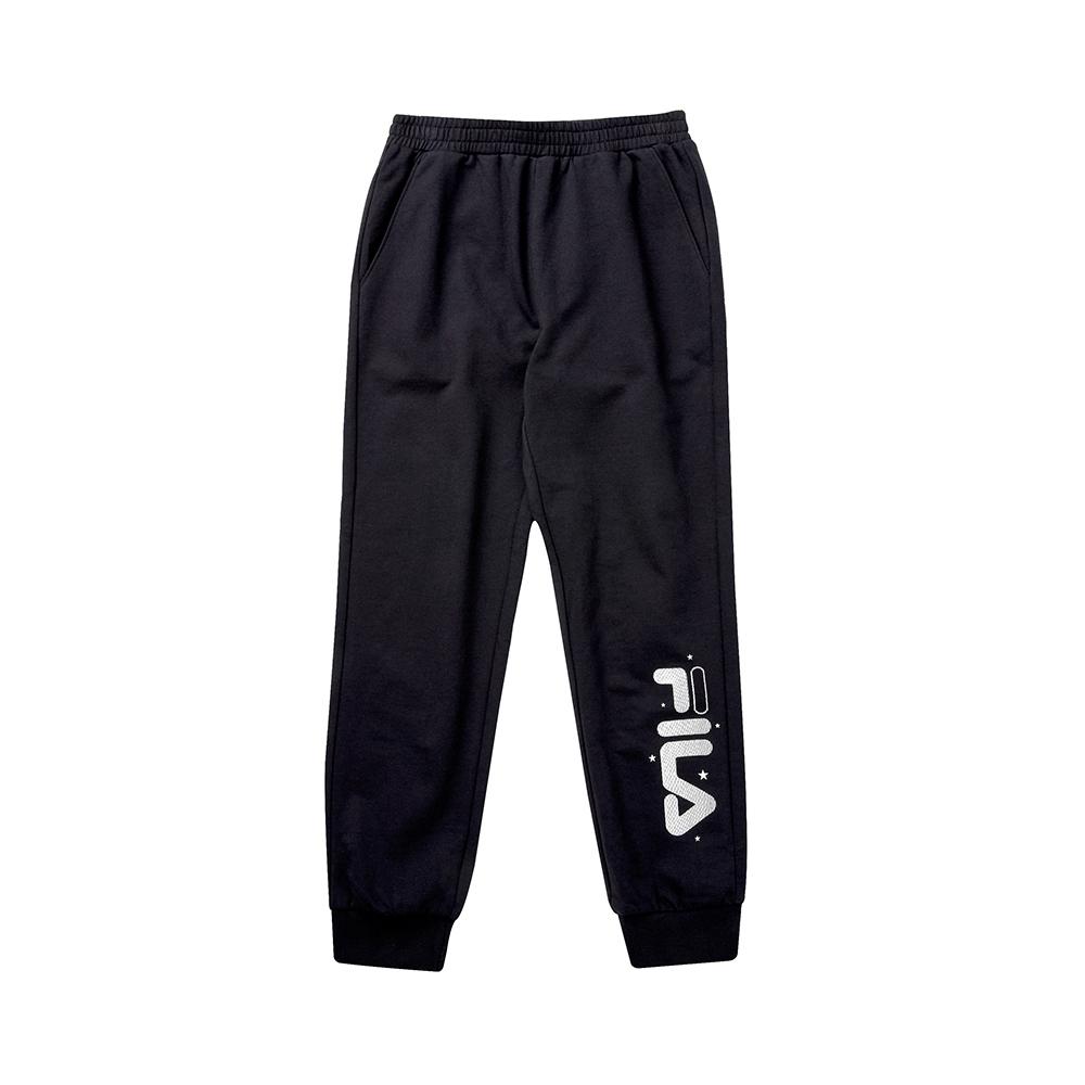 FILA KIDS 女童針織長褲-黑 5PNT-8910-BK