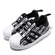 adidas 休閒鞋 Superstar 360 I 襪套式 童鞋 愛迪達 三葉草 貝殼頭 滿版logo 小童 黑 白 EF6642 product thumbnail 1