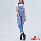 BRAPPERS 女款 Boy friend系列-彈性涼爽吊帶長褲-藍
