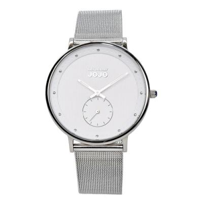 NATURALLY JOJO 極致完美時尚腕錶-低調銀/42mm