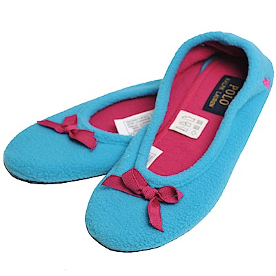 POLO Ralph Lauren 馬球刺繡圖騰貝莉芭雷室內鞋(天藍色)