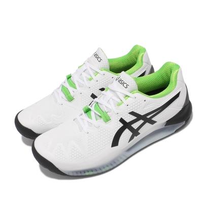 Asics 網球鞋 Gel Resolution 8 2E 男鞋 亞瑟士 寬楦 超耐磨橡膠 緩衝 亞瑟膠 白 黑 1041A113105