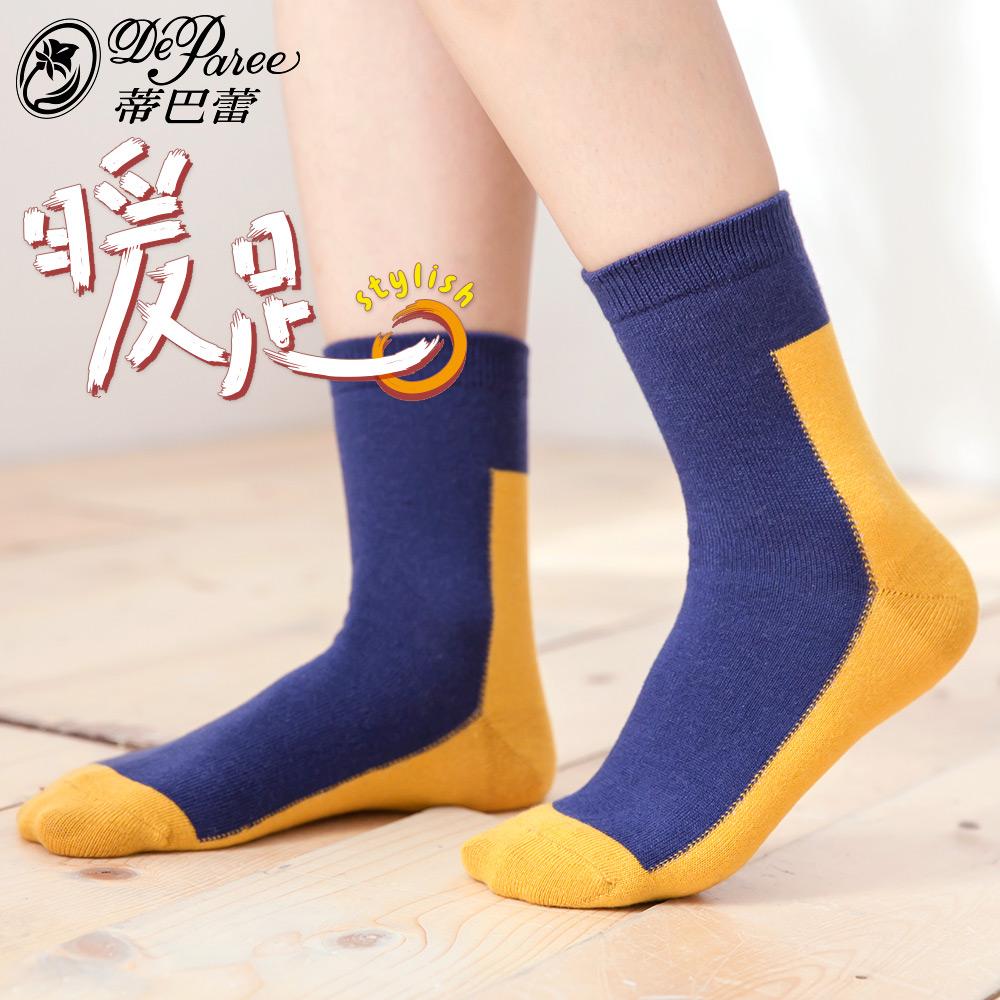 蒂巴蕾 暖足 羊毛襪-色塊 product image 1