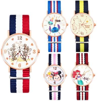 DISNEY迪士尼玫瑰金超薄織帶手錶40mm 十款任選