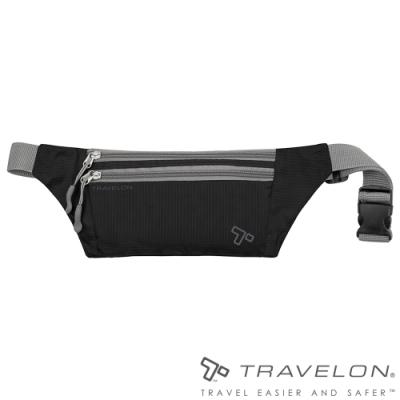 【Travelon】PACKING輕巧多夾層貼身輕量腰包TL-42977黑/隨身包/收納包/零錢包/休閒運動旅遊適用
