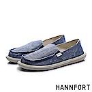 HHANNFORT COZY 無印自然感懶人鞋-女-清爽藍