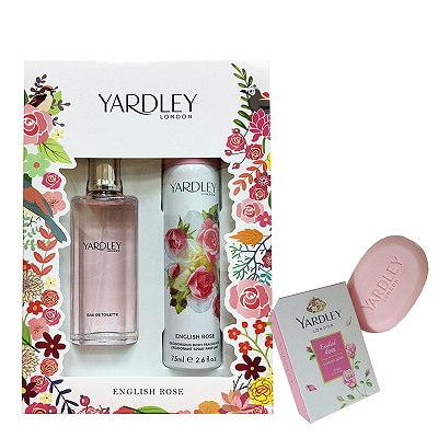 Yardley English Rose 英倫玫瑰淡香水- 香氛禮盒組 搭贈香水皂