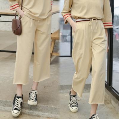 【韓國K.W.】(預購)典藏柔美簡約簡約運動寬褲-1色