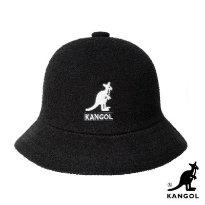 KANGOL-BERMUDA 大LOGO 鐘型帽 - 黑色