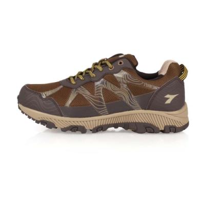 DIADORA 男 戶外越野跑鞋-寬楦 咖啡黃