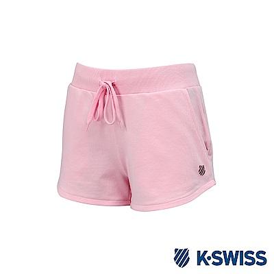 K-Swiss Logo Sweatshorts棉質短褲-女-粉紅