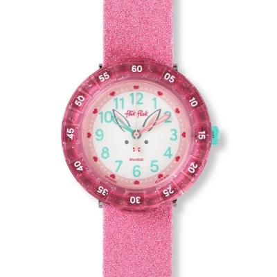 FlikFlak 兒童錶 BUNNYAXUS  藍色心心-36.7mm