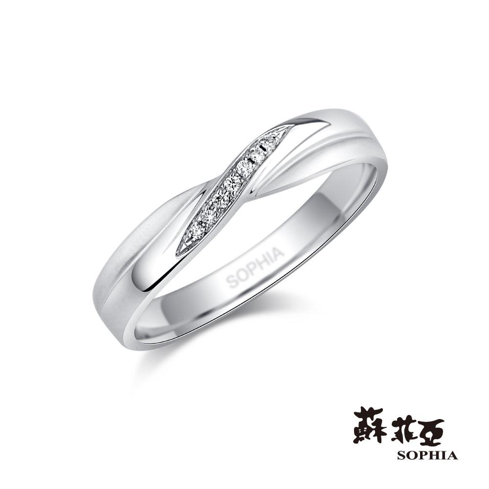蘇菲亞SOPHIA 鉑金戒指-同心結鉑金鑽石女戒