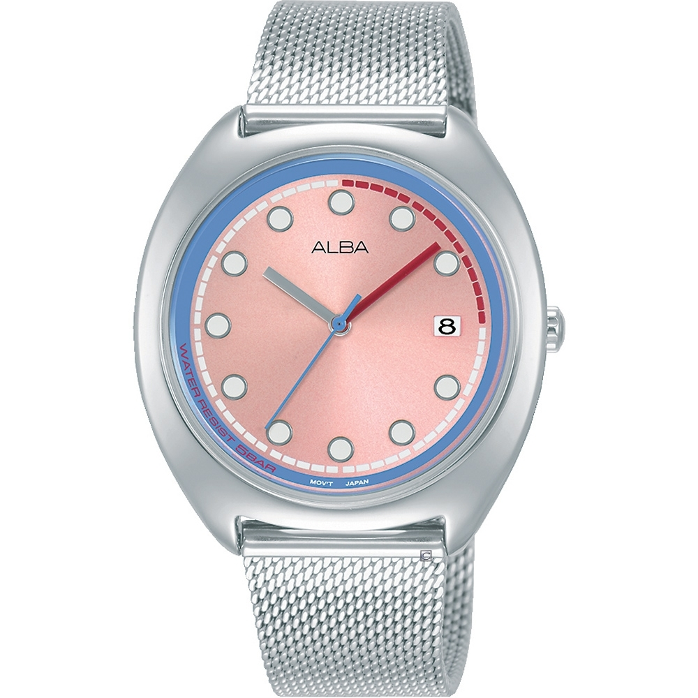 ALBA 雅柏 典雅氣質米蘭帶腕錶 VJ32-X304P AG8K45X1/37mm