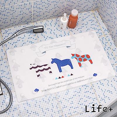 Life Plus 悠然時光浴室吸盤防滑地墊/腳踏墊 (小馬)