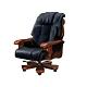柏蒂家居-比利高級半牛皮主管椅/辦公椅-86x59x130~134cm product thumbnail 1
