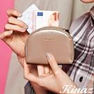 KINAZ 驚喜圓滑貼心分層零錢包-奇幻可可棕-小物魔法系列
