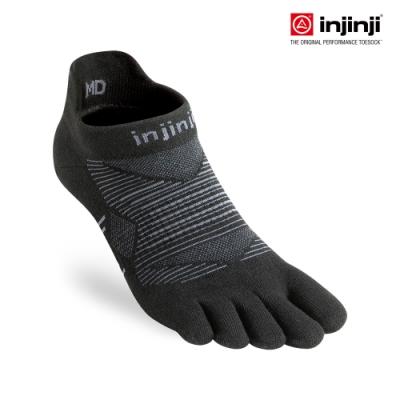 【INJINJI】RUN 輕量吸排五趾隱形襪[晶礦黑] 五指襪 短襪 運動襪 五趾襪