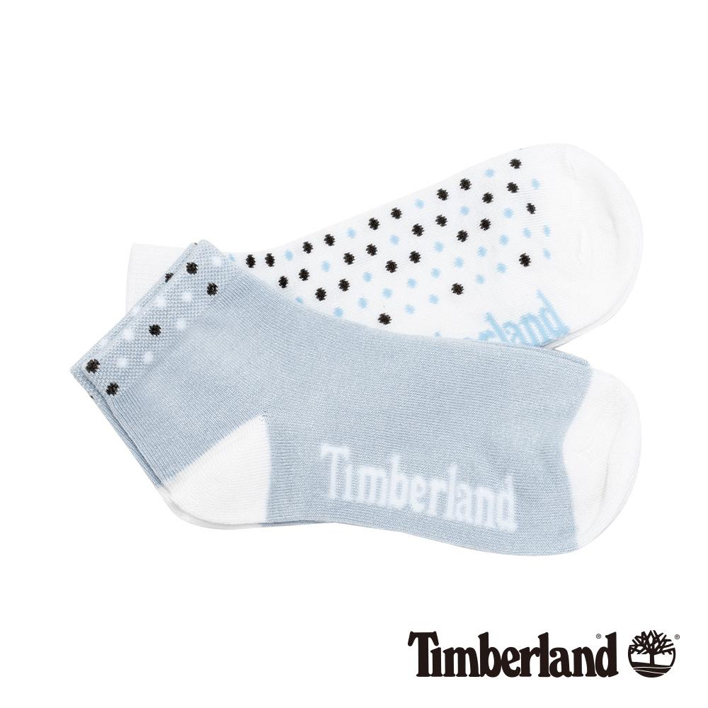 Timberland 女款藍白黑撞色圓點素面兩件組短筒襪 A1ENK