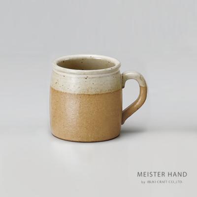 日本 MEISTER HAND 牛奶系列陶瓷馬克杯-薑黃色