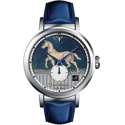 梵谷Van Gogh Swiss Watch小秒盤梵谷經典名畫女錶(C-SLLH-20)