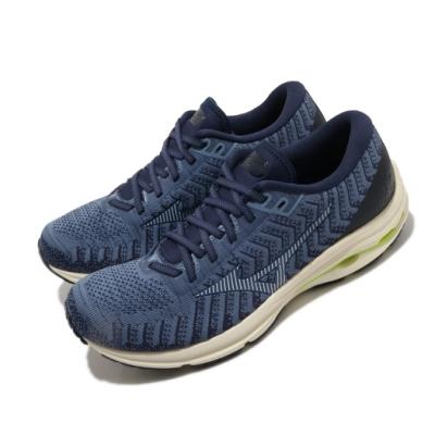 Mizuno 慢跑鞋 Wave Rider 24 運動休閒 男鞋 美津濃 路跑 緩震 透氣 球鞋穿搭 藍 米 J1GC207520