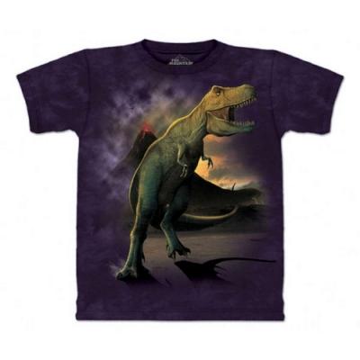 摩達客-自然純棉系列雷克斯龍嚎 深紫色T恤
