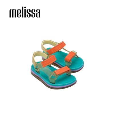 Melissa x Rider Good Time潮流休閒涼鞋 寶寶款-橘黃