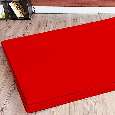 戀戀鄉 (超厚感8CM)日式可折疊透氣可拆洗二折雙人棉床墊-四色