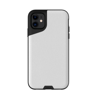 Mous Contour iPhone 11 天然材質防摔保護殼-雅白皮革