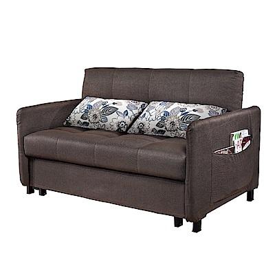 品家居 茉可朵亞麻布拉合式沙發床-133x90x85cm-免組