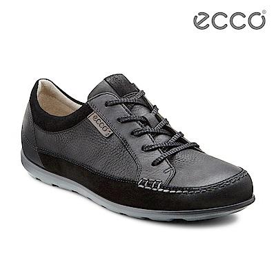 ECCO CAYLA 率性綁帶休閒鞋-黑