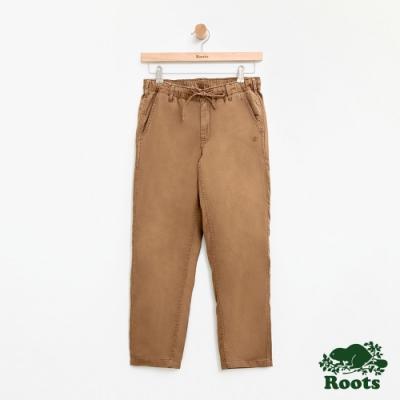 女裝Roots-斜紋布平織長褲-棕