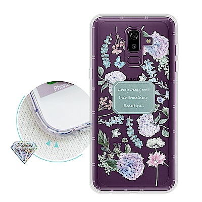 浪漫彩繪 Samsung Galaxy J8 水鑽空壓氣墊手機殼(幸福時刻)