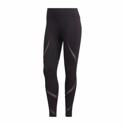 adidas 緊身褲 Believe This 2.0 女款 運動休閒 內搭 健身 重訓 透膚 深紫 GH2871