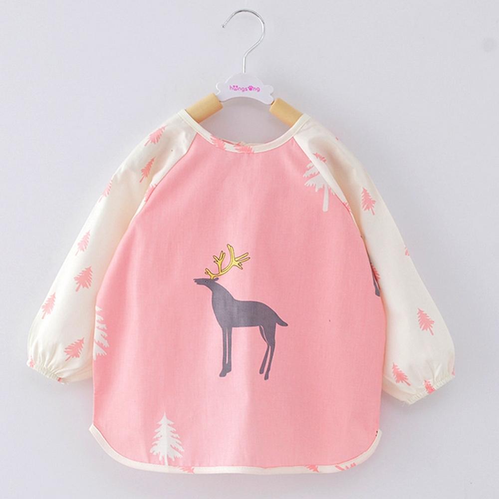 Baby童衣 寶寶吃飯罩衣 嬰兒純棉長袖畫畫衣 防潑水圍兜 88037