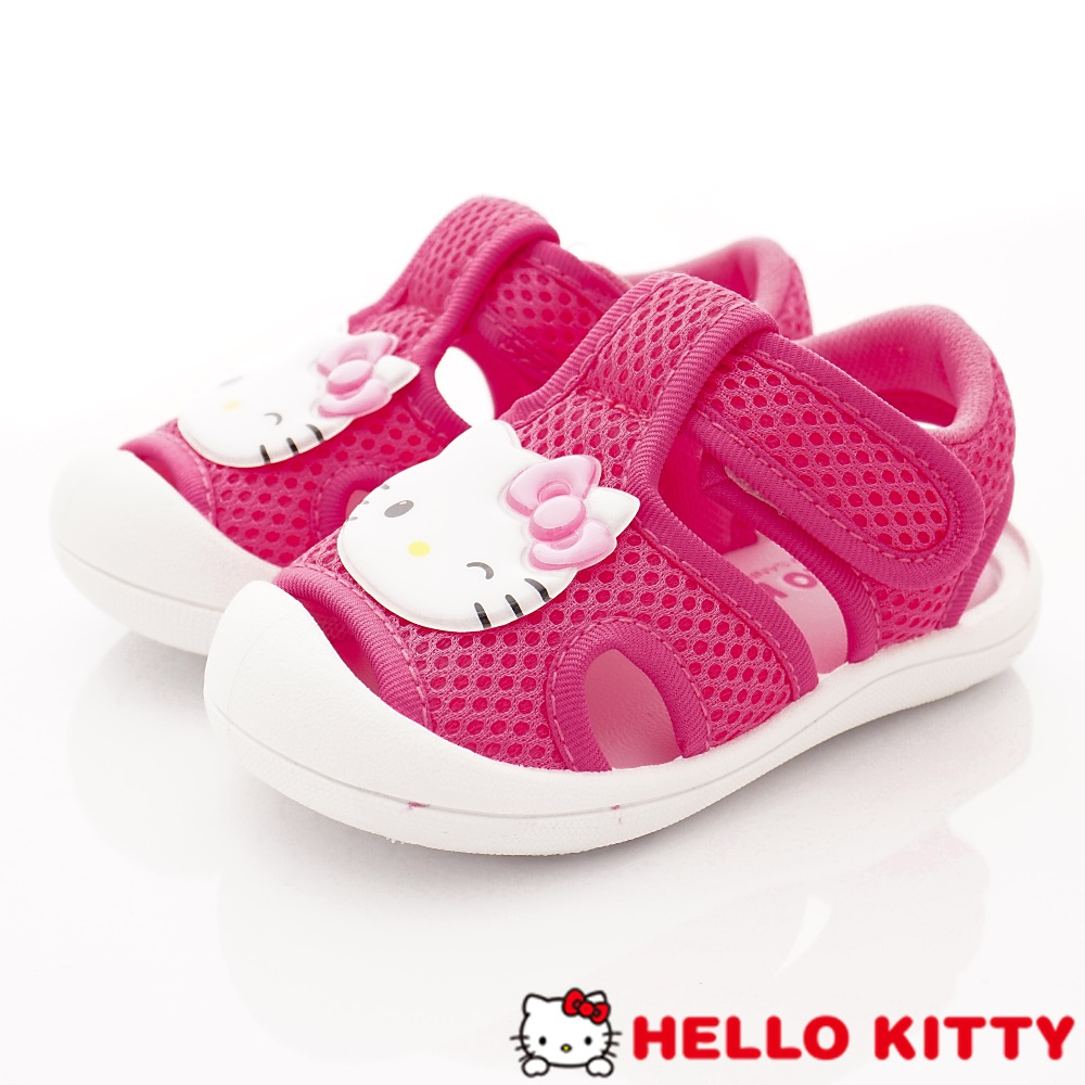HelloKitty童鞋 護趾柔軟涼鞋款 EI19213桃(小童段)