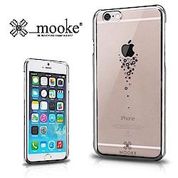 Mooke iPhone 6(4.7) 水鑽電鍍隱形保護殼-時尚銀